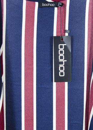 Ассиметричный кардиган, легкая накидка в контрастную полоску boohoo4 фото