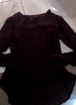 Бордовая блуза