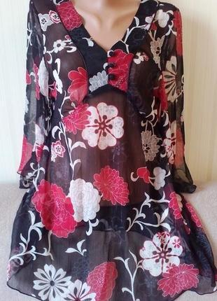 Блуза туника очень красивая от tu, пог 47 см