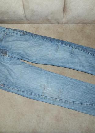 Джинсы брюки светлые на мальчика подростка 10 лет next.
