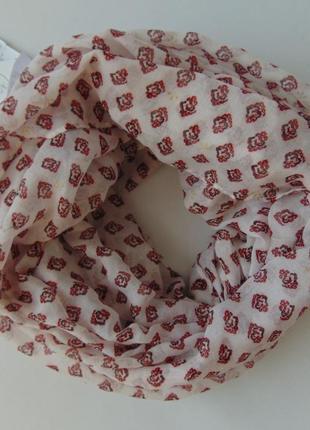 Объемный тонкий шарф хомут c&a, германия
