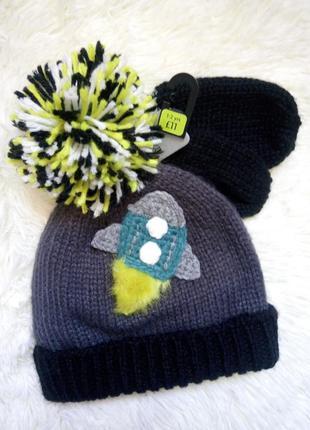 Комплект шапка варежки рукавички 1-2 года next
