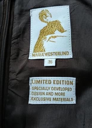 Дизайнерское платье от maria westerlind в тигровый принт с переливом3 фото