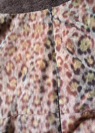 Дизайнерское платье от maria westerlind в тигровый принт с переливом4 фото