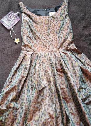 Дизайнерское платье от maria westerlind в тигровый принт с переливом2 фото