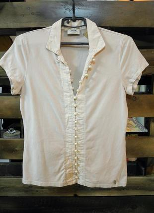 Акция 2 по цене 1!блуза футболка, рубашка с бусинами anna, качественная, отл состояние