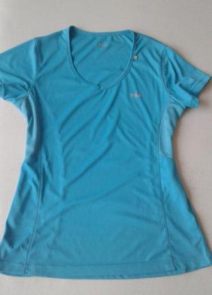 Новая компрессионная бирюзовая футболка для фитнеса fila  м размера (термрбелье)