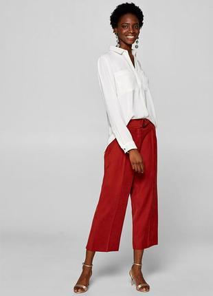 Шелковая блуза-рубашка от esprit nye edition в масляном цвете/легкая
