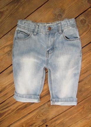 Джинсовые голубые шорты denim co на 8-9 лет, состояние идеальное