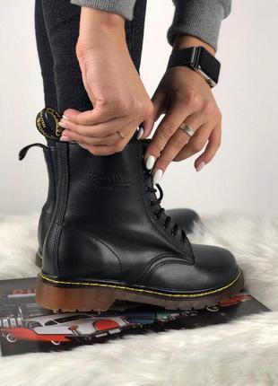 Шикарные женские демисезонные ботинки dr. martens black 😍 (без меха) 2a4b08b664025