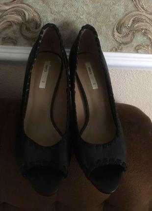 Туфли с открытым носком mango!