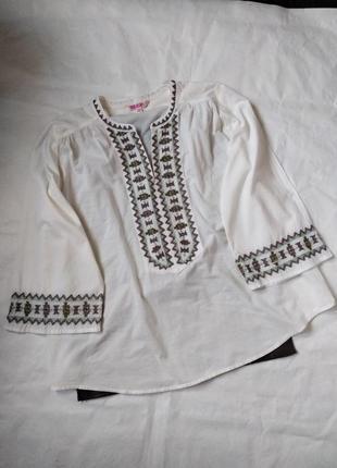 Легкая вышитая рубашка с широкими рукавами