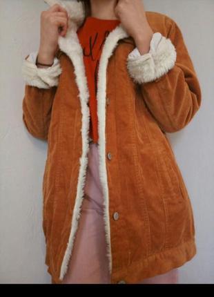 Крутая вельветовая куртка.
