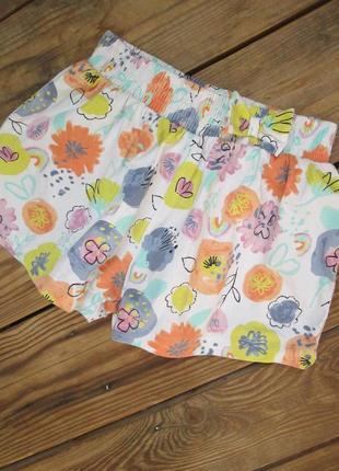 Яркие летние шорты tu на 2-3 года, шортики на резинке, 100% хлопок, сост. идеал