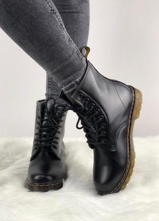 Шикарные женские зимние ботинки dr. martens black 😍 (с мехом) 2f1cb30fbd650