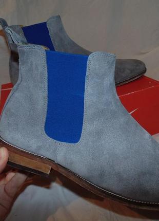 Туфли ботинки челси bobbies paris оригинал натуральная замша