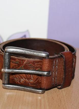 Кожаный оригинальный ремень пояс hollister