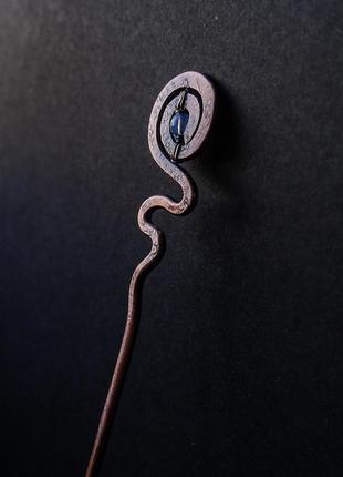 """Медная заколка палочка для волос """" источник"""""""
