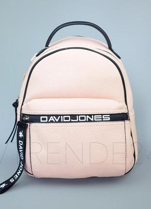 #5989-2 pink david jones бомбовая новиночка! стильный качественный рюкзак!