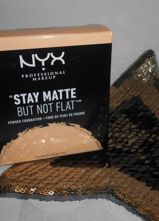 Пудра матирующая nyx stay matte but not flat $ 3 natural