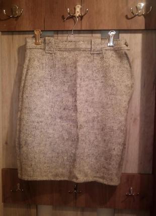 Теплая шерстяная юбка 2100