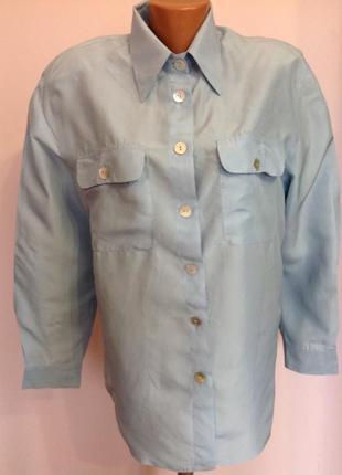 Шелковая итальянская рубашка. /m/ brend nadia nardi