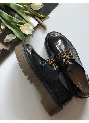 Новые туфли броги pull&bear на платформе pp 40