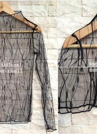 Эффектная прозрачная кофточка 🔥 сетка гольф сетка водолазка блузка блуза3 фото