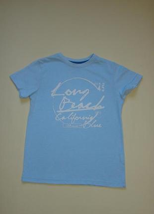 Голубая футболка rebel by primark 9-11 лет