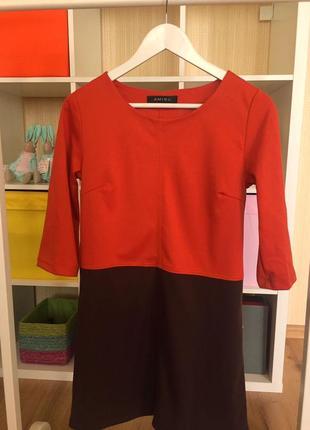 Двухцветное платье amisu