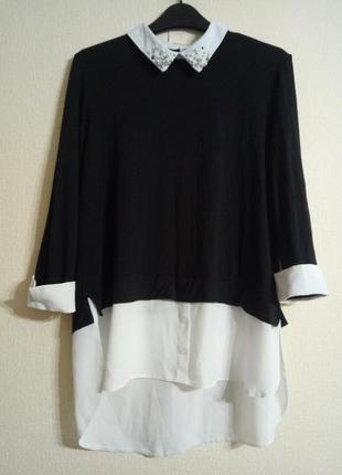 Красивая кофта с блузой