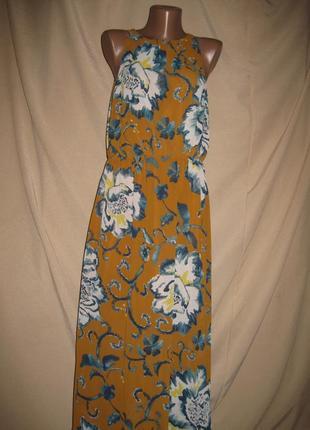 Длинное платье h&m р-р38 (10)