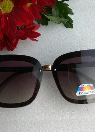 New 2019! новые стильные солнцезащитные очки с поляризацией, черные