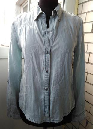 Джинсова сорочка-блуза