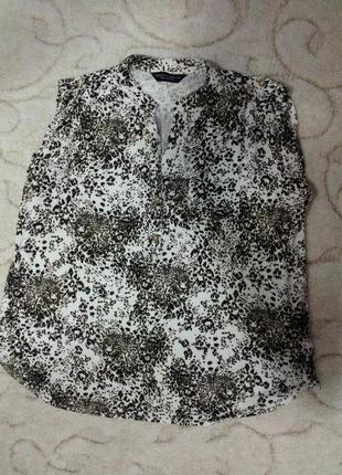 Блуза из вискозы с леопардовым принтом