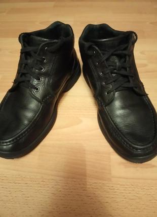 Брендовые,кожаные ботинки,полусапоги,полуботинки,кросовки,43р,от adidas-rockport.