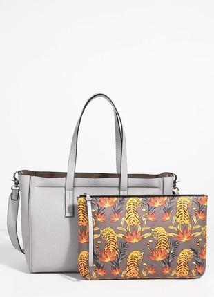 Большая серая сумка - шоппер 2 в 1 (бесплатная доставка)