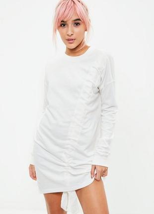 Платье свитшот с завязкой