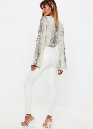 Базовые белые джинсы скинни3