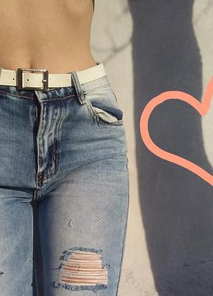 f51907cd3a1 Крутезные рваные джинсы мом