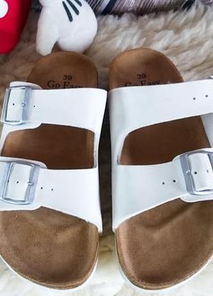Шлепанцы go easy. ортопедическая стелька из натуральной кожи