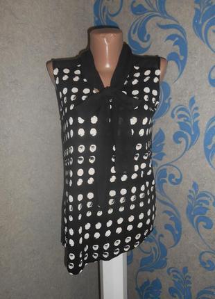 Симпатичная асимметричная вискозная блуза 10 р.