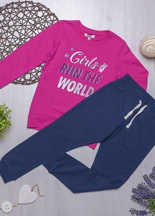 Комплект толстовка и штаны для девочки piazza italia италия