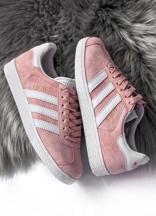 Шикарные женские кроссовки adidas gazelle pink  😍 (весна/ лето/ осень)