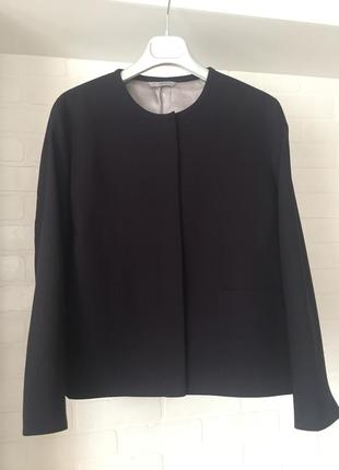 Темно - синий пиджак m&s размер 16uk наш 50 костюмная 100% шерсть