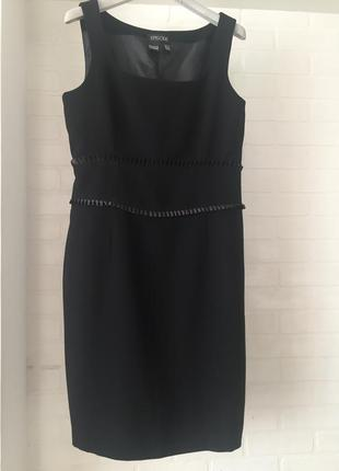 Чёрное платье футляр карандаш episode размер 12uk наш 46 шерсть