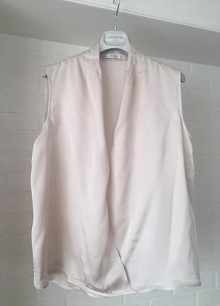Бежевая блуза mango размер s-m-l 44