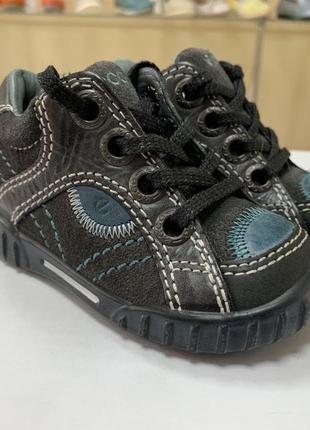 Детские туфли ecco оригинал натуральная кожа распродажа остатков 19 размер