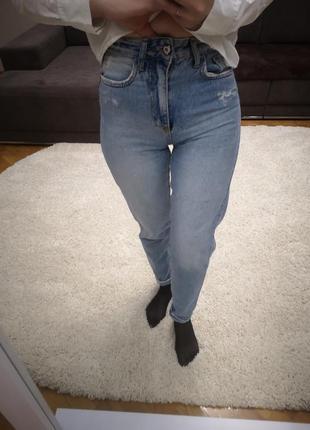 Идеальные mom jeans xs высокая посадка