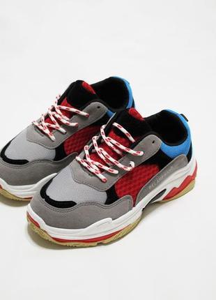 Распродажа! женские разноцветные кроссовки (крипперы) на толстой подошве